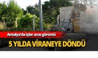 Antalya'da içler acısı görüntü