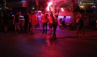 Galatasaray taraftarları Antalya'da şampiyonluğu kutladı
