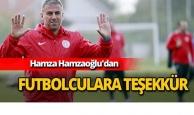 Hamzaoğlu'dan futbolculara teşekkür