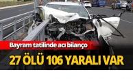 27 ölü 106 yaralı var