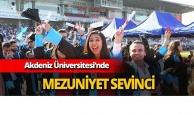 Akdeniz Üniversitesi'nde mezuniyet coşkusu