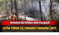Antalya'da aynı yerde 3 orman yangını