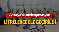 Antalya'da otele operasyon