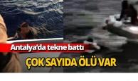 Antalya'da tekne battı