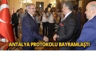 Antalya protokolu bayramlaştı