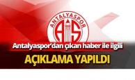 Antalyaspor Asbaşkanı Öz iddiaları yalanladı