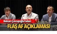 Bakan Çavuşoğlu'ndan af açıklaması