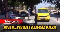 Karşıya geçmeye çalışırken taksi çarptı