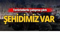 PKK'lı teröristler ile çatışma çıktı