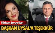 Türkan Şoray'dan Başkan Uysal'a teşekkür