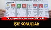 Türkiye genelinde sandıkların yüzde 90'ı açıldı