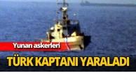 Yunan askerleri Türk kaptanı yaraladı