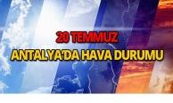 20 Temmuz 2018 Antalya hava durumu