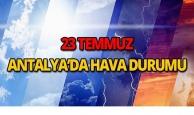 23 Temmuz 2018 Antalya hava durumu