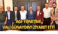 AGF yönetimi Vali Günaydın'ı ziyaret etti