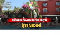 Antalya'da turistler havuzları daha çok tercih ediyor