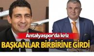Antalyaspor'da başkanlar birbirine girdi