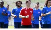 Antalyaspor dayanıklılık antrenmanı yaptı