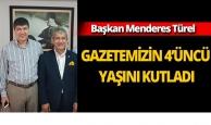 Başkan Türel gazetemizin 4'üncü yaşını kutladı