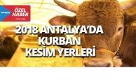 2018 Antalya'da kurban kesim yerleri