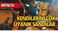 Antalya'da uyanık kaçakçılar böyle kıstırıldı