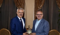 Başsavcı Solmaz'dan Vali Karaloğlu'na veda ziyareti
