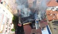 Et kavururken binayı yaktı