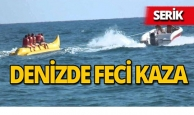 Serik'te denizde feci kaza : Yaralılar var