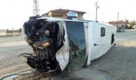 Yeni Malatyaspor'un taraftar minibüsünde feci kaza