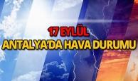 17 Eylül 2018 Antalya hava durumu