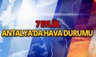 7 Eylül 2018 Antalya hava durumu