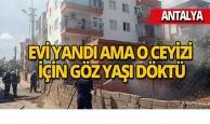 Antalya'da gözyaşlarına hakim olamadı