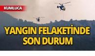 Antalya'daki yangında soğutma çalışmaları sürüyor!