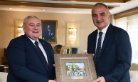 ATSO yönetim kurulu heyetinden Turizm Bakanı Ersoy'a ziyaret
