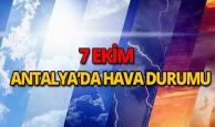 7 Ekim 2018 Antalya hava durumu
