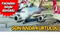 Havalimanı'nda uçak kazasını TGS personeli önledi