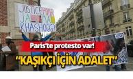 Paris'te 'Kaşıkçı' protestosu