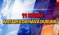 11 Kasım 2018 Antalya hava durumu