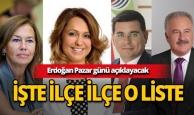 Cumhurbaşkanı Erdoğan Pazar günü açıklayacak! İşte AK Parti Antalya ilçe adayları!