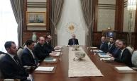Cumhurbaşkanı Erdoğan, politika kurulları başkan vekillerini kabul etti