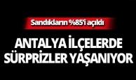 Antalya ilçelerinde son durum