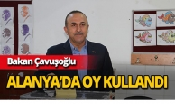 Bakan Çavuşoğlu oyunu Alanya'da kullandı