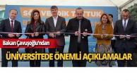 Bakan Çavuşoğlu üniversitede konuştu!