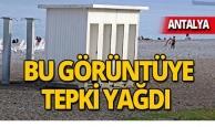 Antalya Konyaaltı Sahili'nde şaşırtan görüntü!