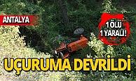 Taziye dönüşü feci kaza: 1 ölü, 1 yaralı!
