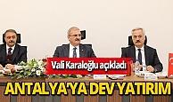Antalya'ya 30 milyon TL'lik yatırım
