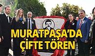 Muratpaşa'da çifte tören