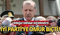 Erdoğan İYİ Parti Antalya'daki istifaları değerlendirdi