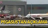 Kaza sonrası Pegasus Havayolları'ndan açıklama!