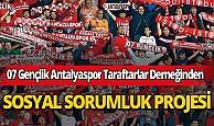 07 Gençlik Antalyaspor Taraftarlar Derneğinden koronavirüs ile mücadeleye destek!